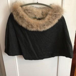 Anna Irion Real Fur and 100% cashmere cape